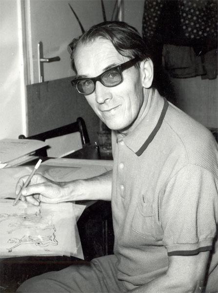 """Macskássy Gyula (1912-1971) Balázs Béla-díjas magyar rajzfilmrendező. A magyar rajzfilm """"atyja""""."""