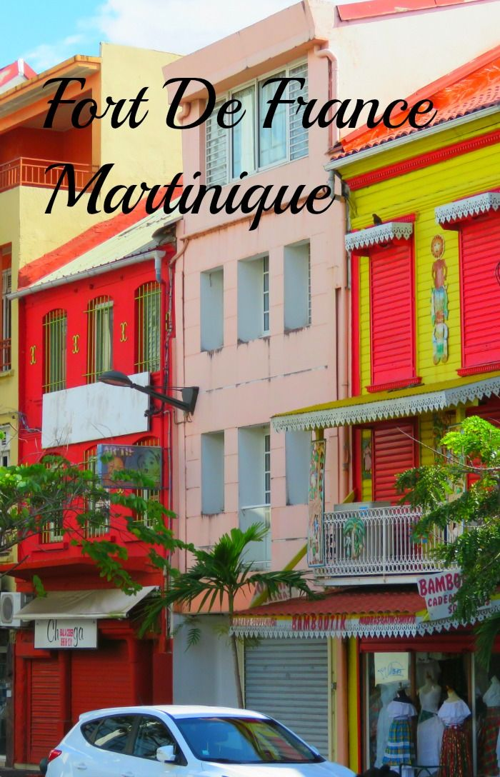 One of the city streets of Fort De France, Martinique.