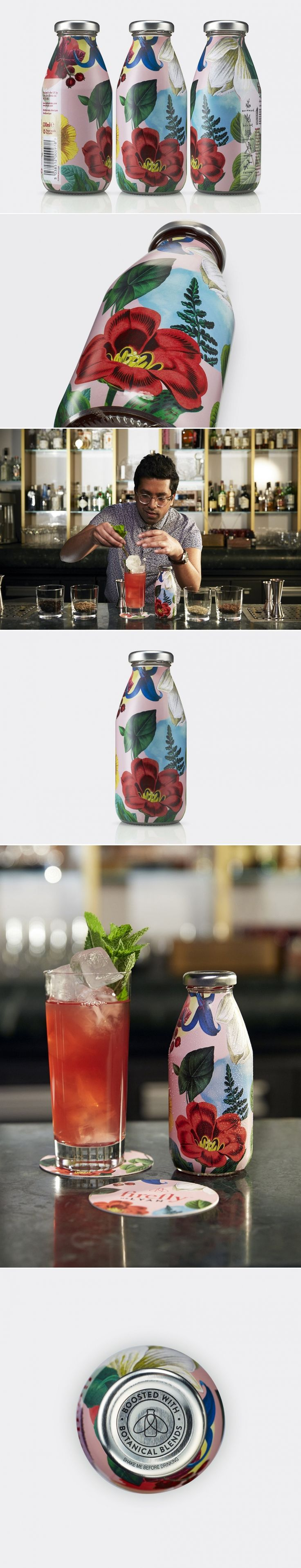This Bottle Features Some Stunning Botanical Illustrations — The Dieline | Packaging & Branding Design & Innovation News