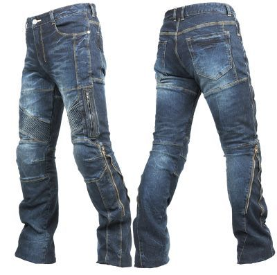 Motorrad Jeans Stretch CE-Protektoren Kevlar Premium Biker Jeans Motorradhose