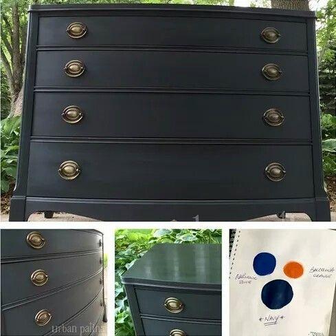 napoleonic blue barcelona orange navy blue marvelous mixes with chalk paint pinterest. Black Bedroom Furniture Sets. Home Design Ideas