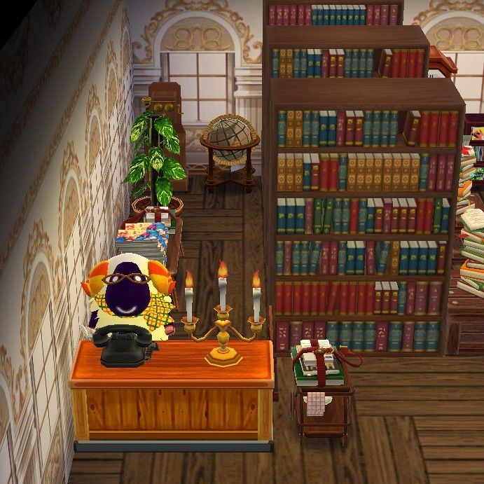 Peaceful Library Animal Crossing Pocket Camp Animal Crossing Memes Animal Crossing
