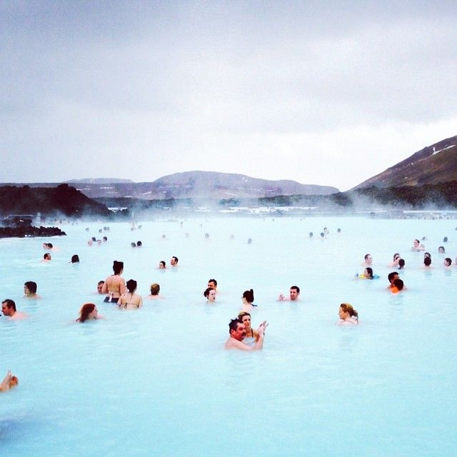Warming up in Iceland's Blue Lagoon.
