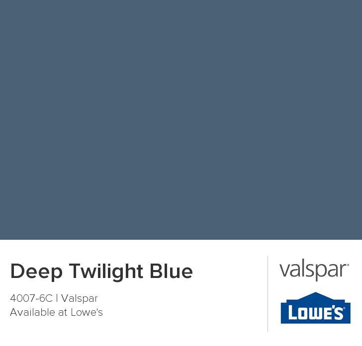 Deep Twilight Blue from Valspar
