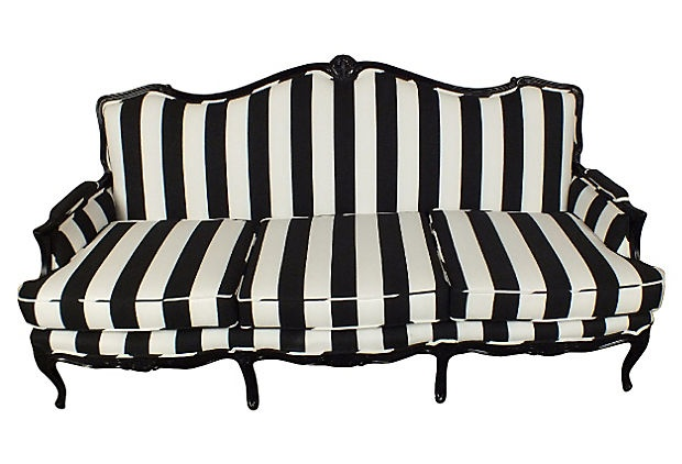 1000 ideas about striped sofa on pinterest striped couch ticking stripe and mid century sofa. Black Bedroom Furniture Sets. Home Design Ideas