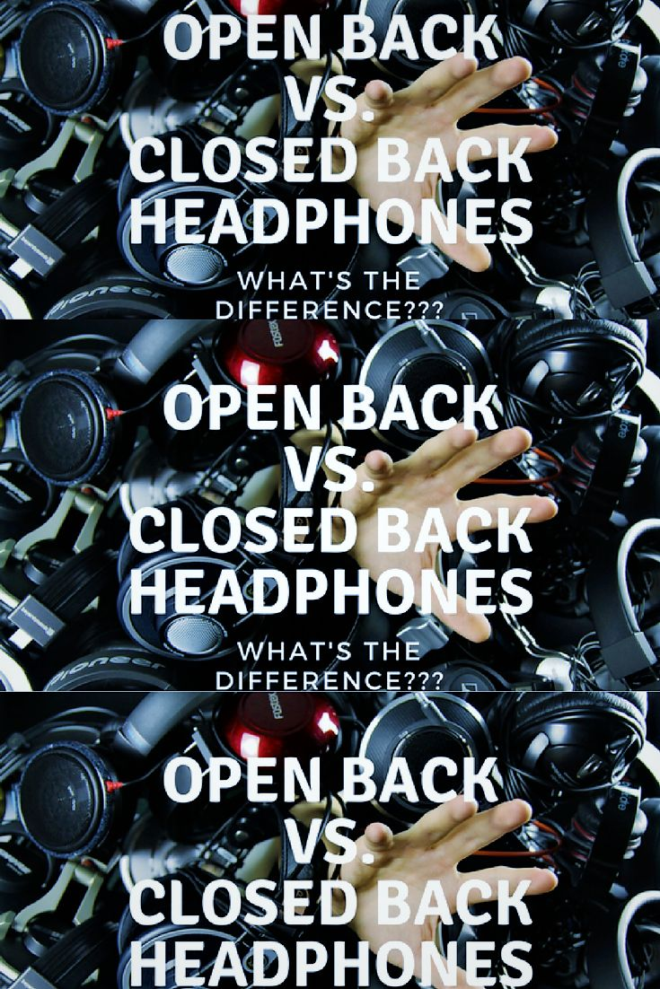 What's the difference between Open-Back and Closed-Back #headphones?  Use the link below to see the different pros, cons, and costs between the two! #audiophile #hifi #HiResAudio  #WhatsTheCost