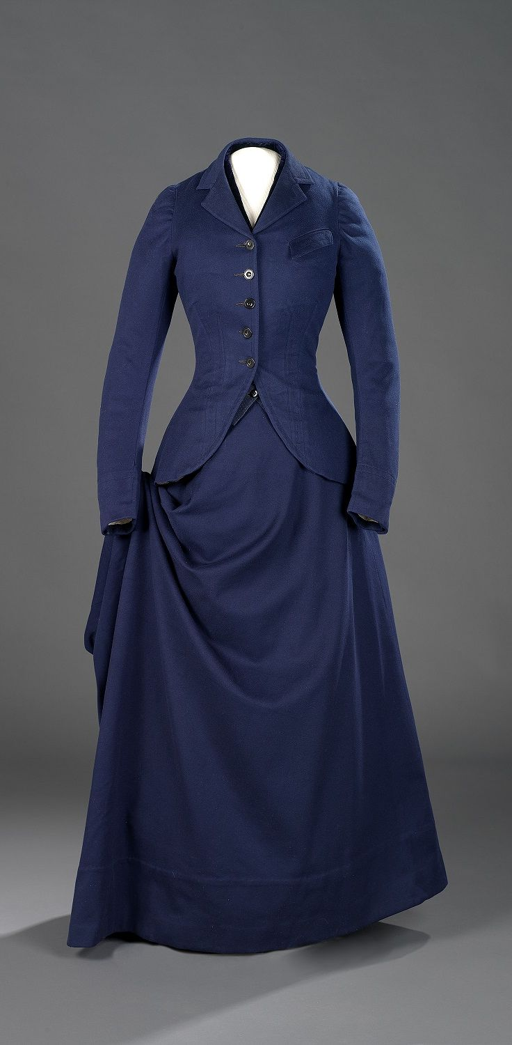 Riding habit, wool, Canadian, late 1870s.