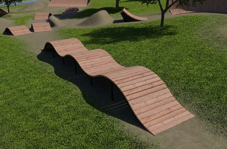 Wood Berm (With images) Skate park, Mountain biking