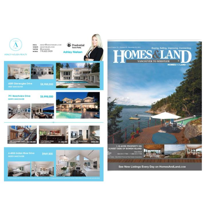 Homes and Land Vancouver Real Estate Magazine Ashley Nielsen