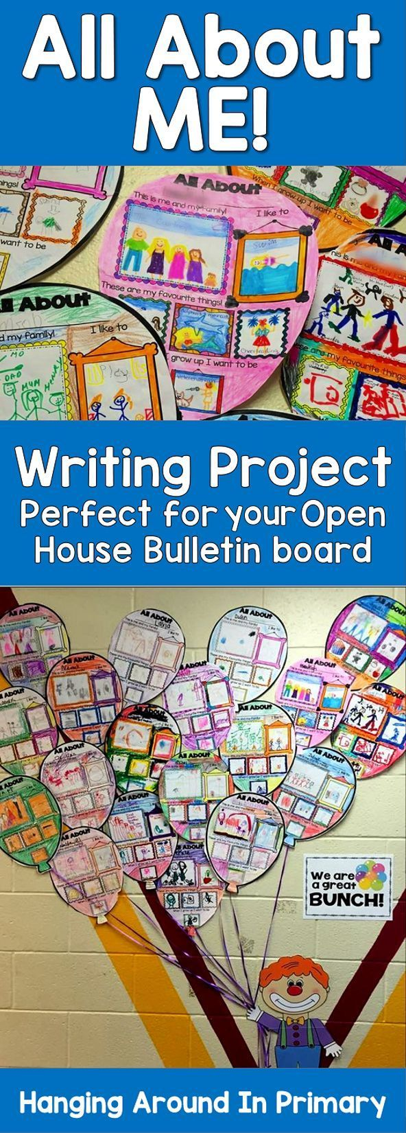 Are you looking for an activity to get to know your students when they come back to school? Would you like it to double as a bulletin board for Open House? This All About Me resource covers you for both!