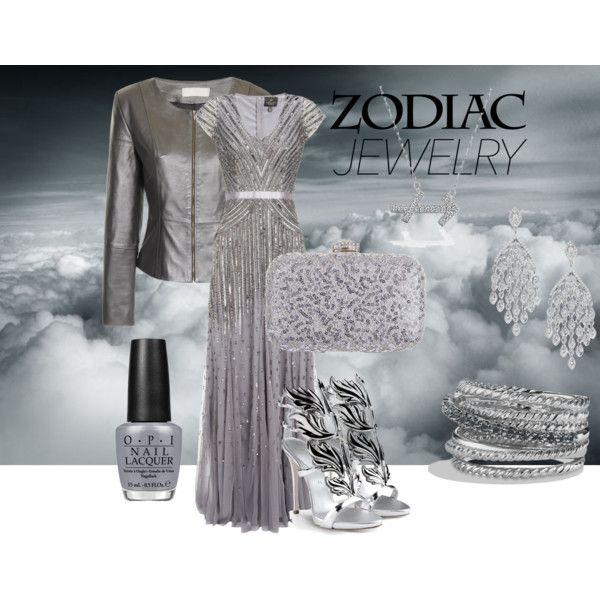 silver sagittarius by baebaoni-bijoux on Polyvore featuring moda, Adrianna Papell, Giuseppe Zanotti, Rainbow Club, David Yurman, Bling Jewelry and OPI