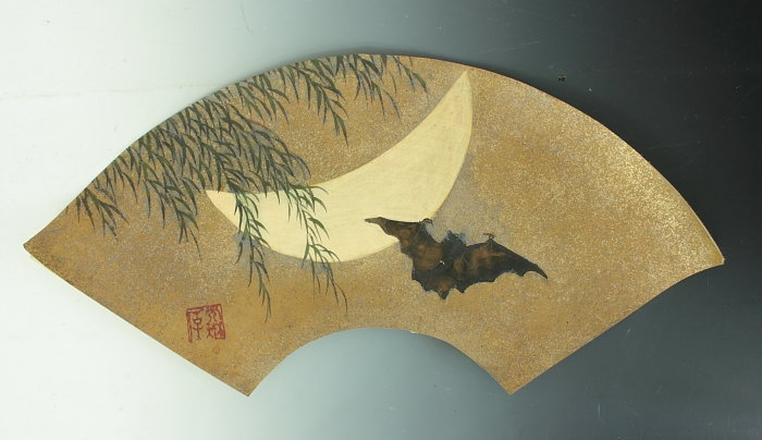 SENMENZU MOON & BAT by Ogata Korin ( 1658-1716)