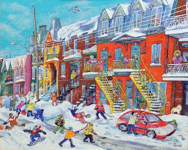 Miyuki Tanobe - La semaine de relâche au Plateau Mont-Royal Peintre québécoise dont j'adore le style naïf.