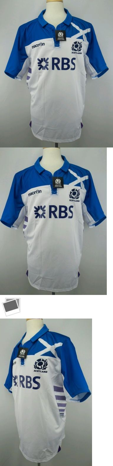Rugby 21563: Nwt Authentic Macron Scotland Away Rugby Jersey Size Adult Xxl BUY IT NOW ONLY: $56.09
