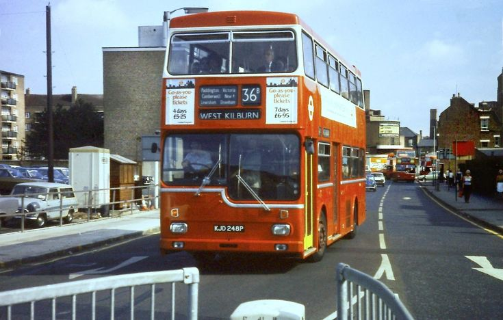 Clayton Road Behind Peckham Bus Garage Peckham South East London England in the 1970's