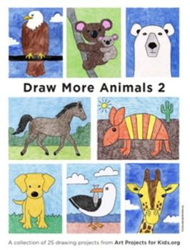 Drawing More Animals 2 Ebook. $8 instant download. #TPT