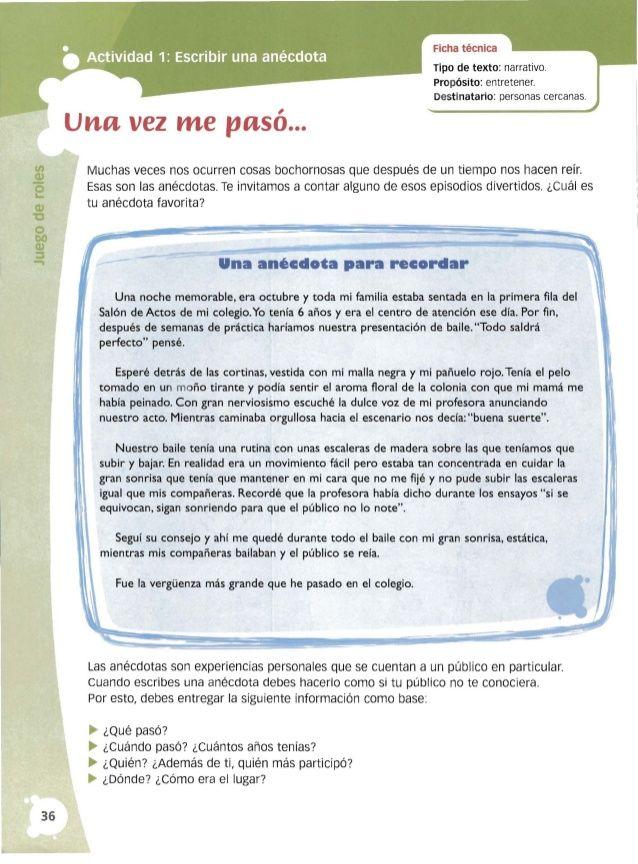 Taller De Escritura 4º Santillana Writing Tips Writing Writer