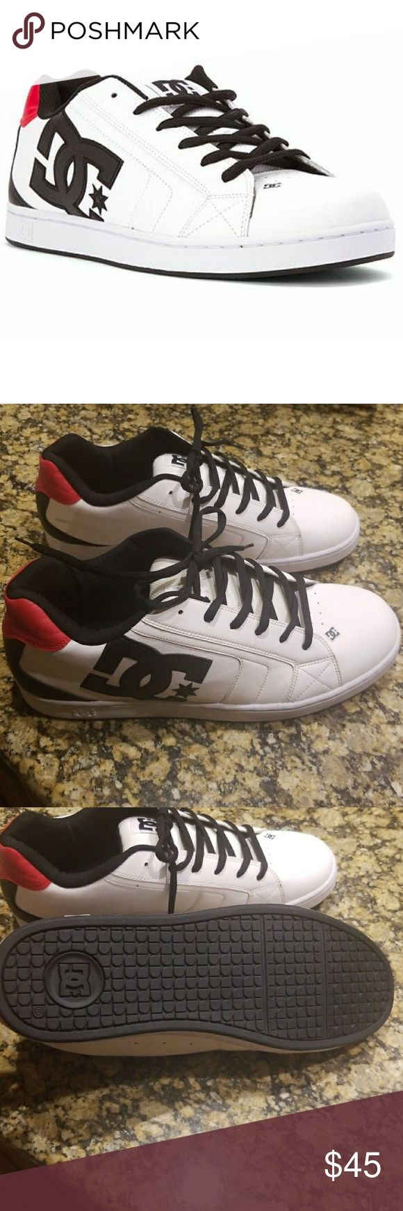 White, Black and Red DC Net Skate Shoes Brand New. DC Net Skate Shoes DC Shoes Athletic Shoes