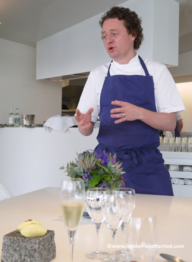 Chef Tom Kitchin at the Cube London
