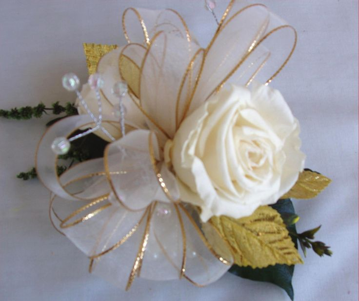 50th Wedding Anniversary Wrist Corsage
