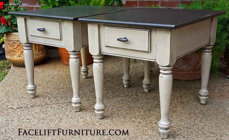 End Tables - Painted, Glazed & Distressed