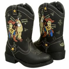 Brown Toy Story boots.