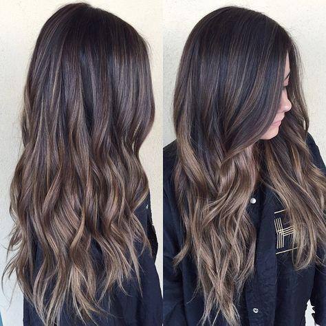 brunette balayage, LOVE that it's caramel not orange!