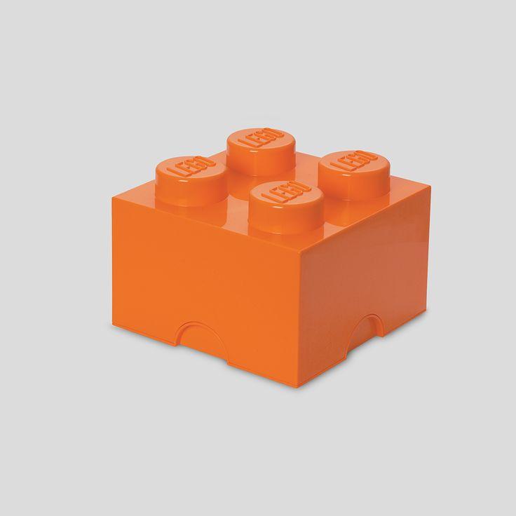 LEGO Storage, Brick 4 Orange, Design by Room Copenhagen