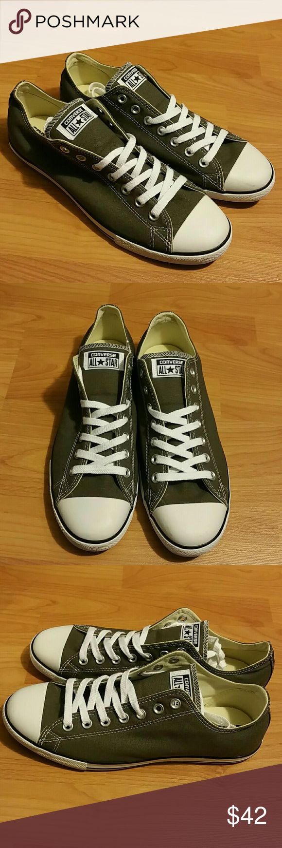 Mens converse all star New. Size 10. Never worn. Color gray. Converse Shoes Sneakers
