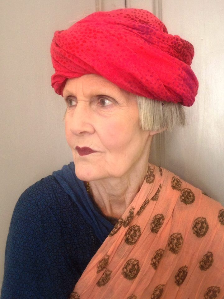 Check out our Darling Fabulous Fashionista Jean, showing off our, this seasons, Becksondergaard UK scarves, giving them her own twist, in her own fabulous way.