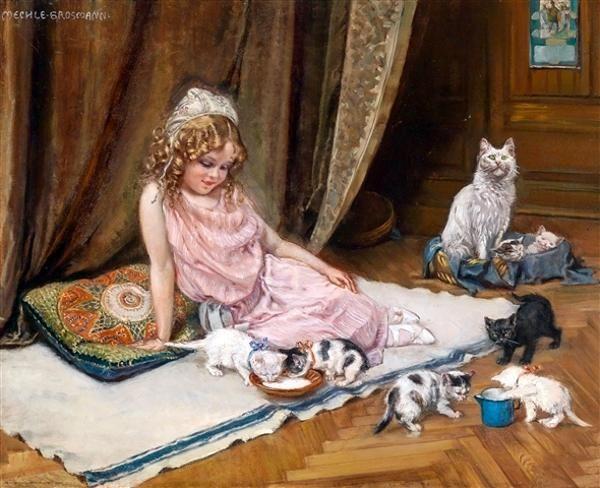 Hedwig Mechle-Grosmann, Die stolze Katzenmutter