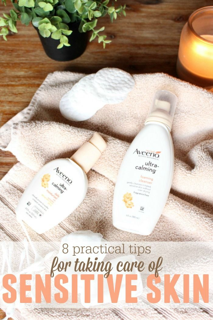 Sensitive skin can be hard to figure out! Check out these 8 tips to help calm your skin and eliminate irritation! #ad #aveeno