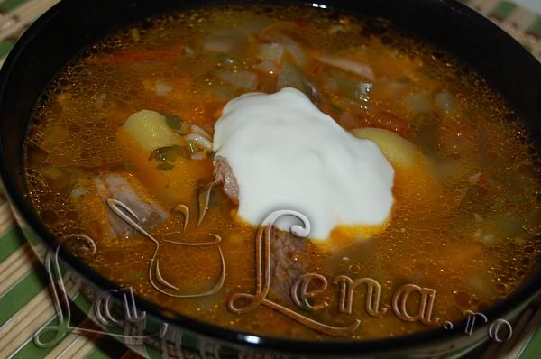 Rasolnik - supa de vita cu castraveti murati - Pas 13