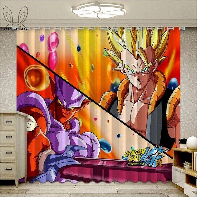 Dragon Ball Z Blackout Rideau Panneaux Épais Solide Thermique Fenêtre Rideaux 2 Panel