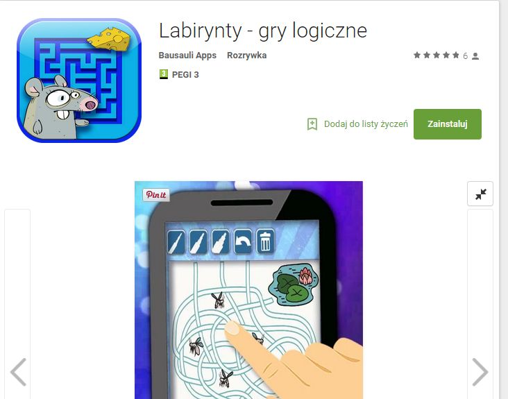 labirynty dla dzieci    https://play.google.com/store/apps/details?id=com.bausauli.kids.game.labyrinth