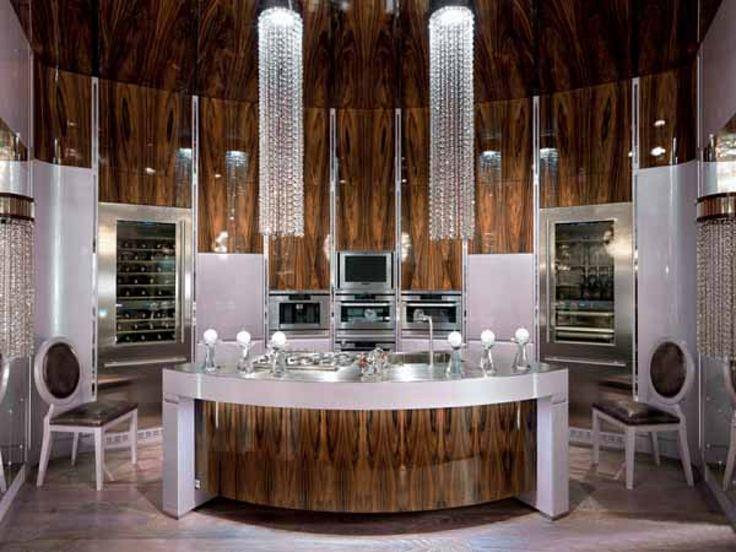 Art deco interiors custom made modern kitchen design in art deco style art deco kitchen