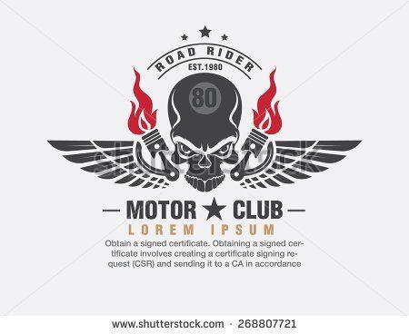 motor logo graphic design. logo, Sticker,  label, arm  - stock vector