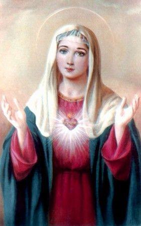 Images pieuses (La vierge Marie)