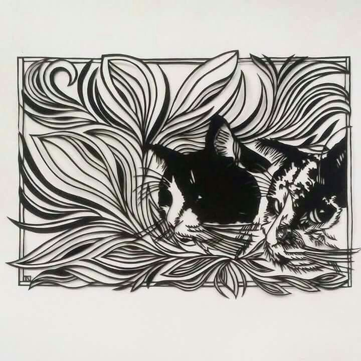 Paper cutting art by Ilse Nieman