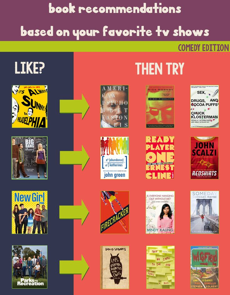 Book Recommendations Based on Your Favorite TV Shows - Comedy Edition