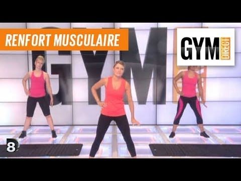 Cours gym - Renforcement musculaire 68 : Taille, fessiers - YouTube