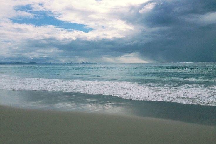 At Coolangatta Beach with Brian, Joy