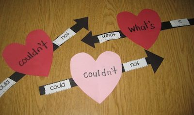 Would be fun to do on valentines day. Maybe with compound words and upper/lowercase letters.