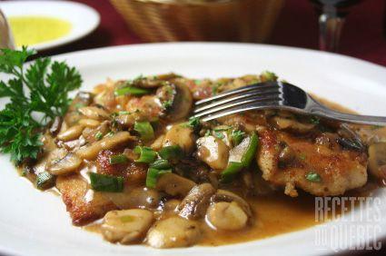 Veau marsala à la Nickey #recettesduqc #souper #veau