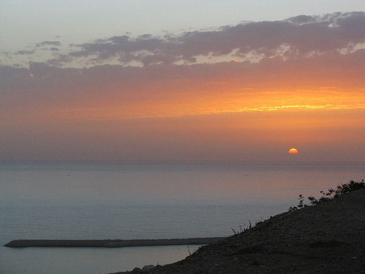 A sunset image of Morocco from the top of the old Casbah in Agadir.