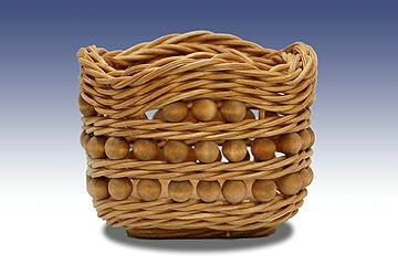 Sweetie Square Basket with Beads