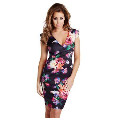 Jessica Wright Floral 'Pandora' bodycon midi dress-   Debenhams