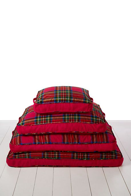 Plaid Dog Bed Cover from Lands' End