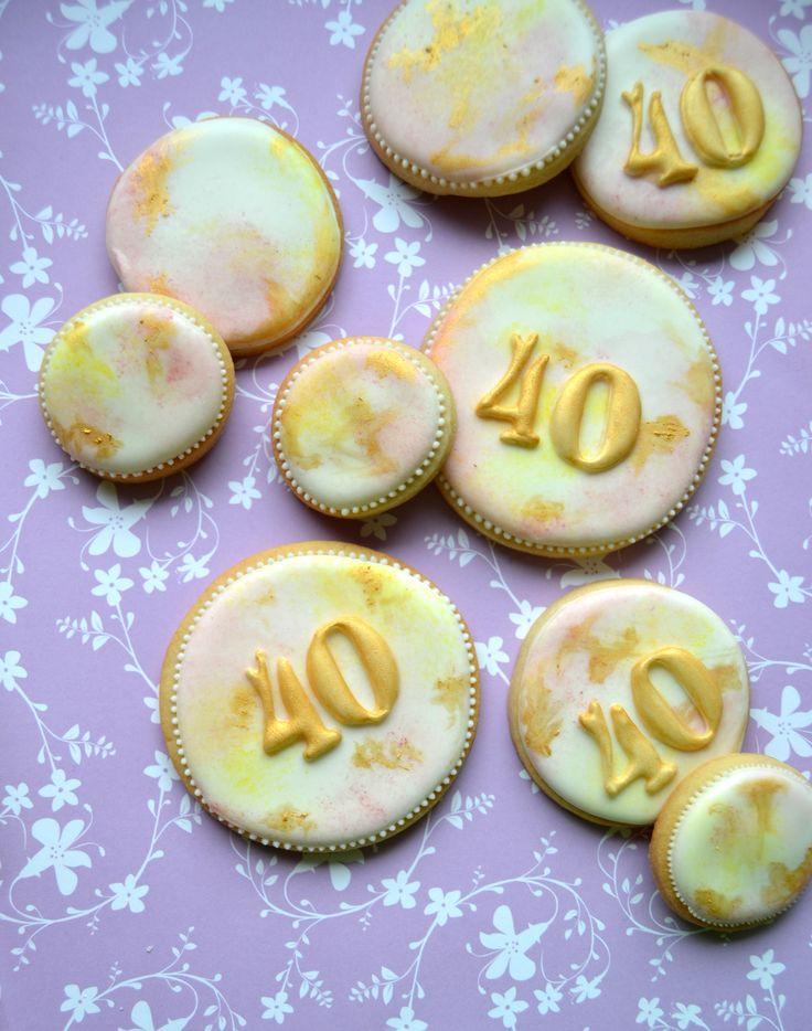 Waterpaint cookies & gold