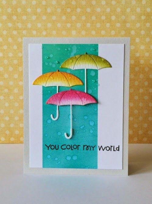 "Donna Mikasa :three umbrellas: April Showers  - very pretty.  Three umbrellas from ""Three Umbrella's"" blog."